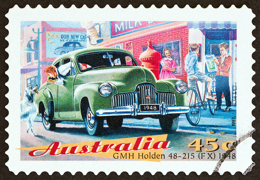 holden car stamp